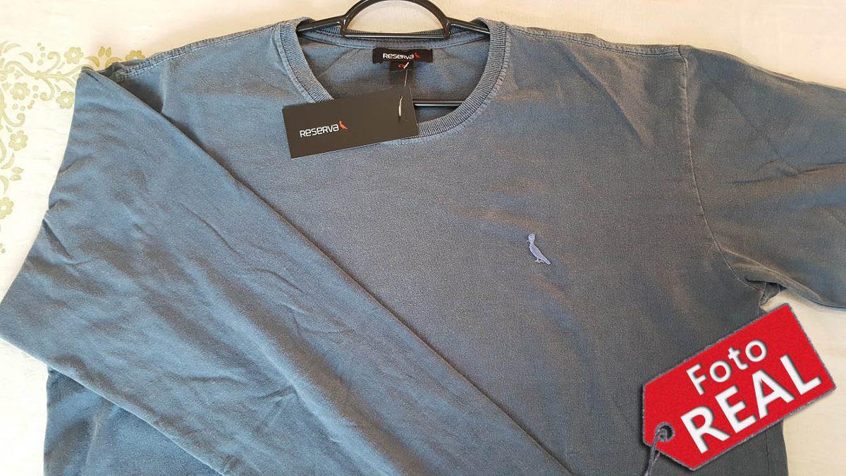 fec69f0399 camisa manga longa reserva lisa azul original - liquidação. Carregando zoom.