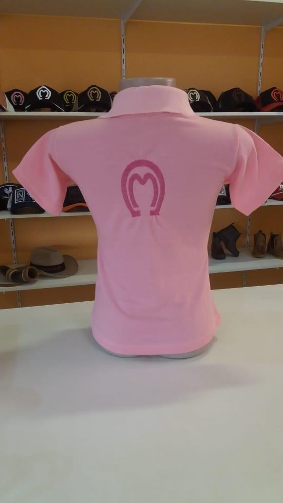d66fb651edf92 camisa mangalarga rosa infantil feminina gola polo promoção. Carregando  zoom.