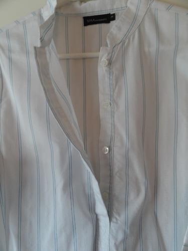 camisa mangas 3/4 cuello mao talle 3