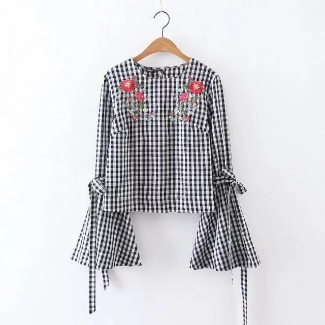 CAMISA CUADROS BORDADA | Fashion Wishlist | Camisa de