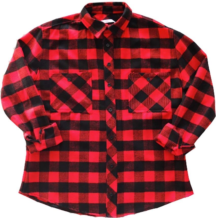 2f6a8757ee93f Camisa Mangas Largas Escocesa Roja De Lana Drole -   570