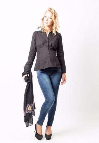 camisa mangas largas para embarazadas -diseño urbano oficial
