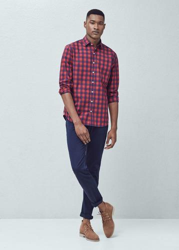 camisa mango man slim fit - talla m - s/ 150