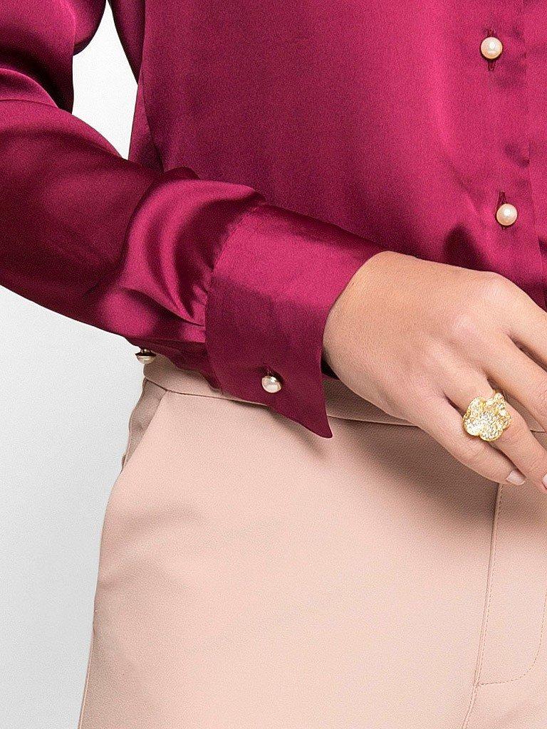 c5e8db3e33 camisa marsala feminina de cetim principessa liliana. Carregando zoom.