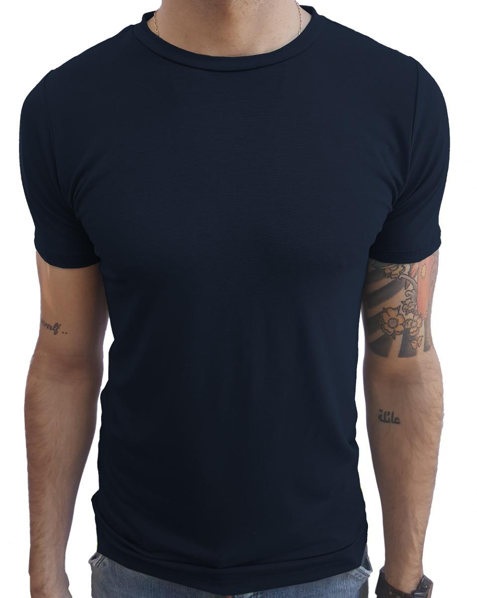 67cb3244be532 camisa masculina básica slim gola careca viscose e elastano. Carregando  zoom.
