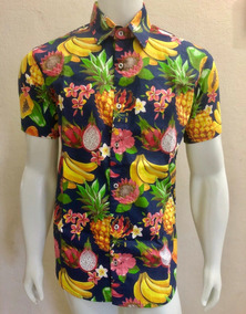 ef5b0f547c Camisa Florida Hocks - Camisa Manga Curta Masculinas Azul marinho em ...