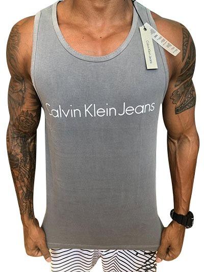 e085466e3edaa Camisa Masculina - Calvin Klein - Regata - Promoção - 117 - R  89