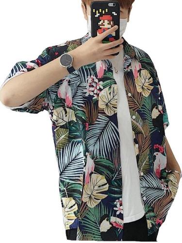 camisa masculina camiseta florida havaiana verão 2019