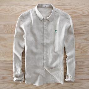a7d3b07799 Camisa De Linho Branca Masculina no Mercado Livre Brasil