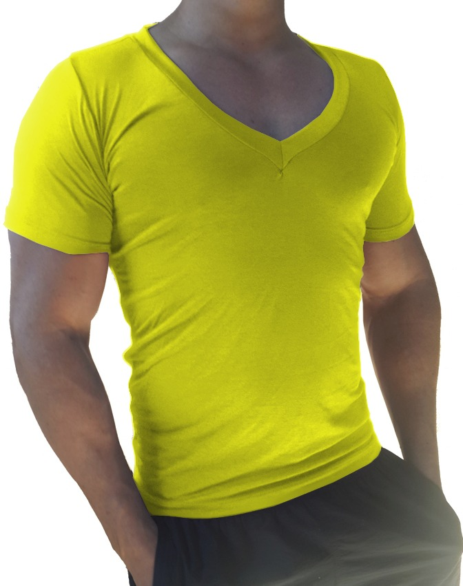 41d4cd1aed camisa masculina decote gola v cavada slim viscolycra mc. Carregando zoom.