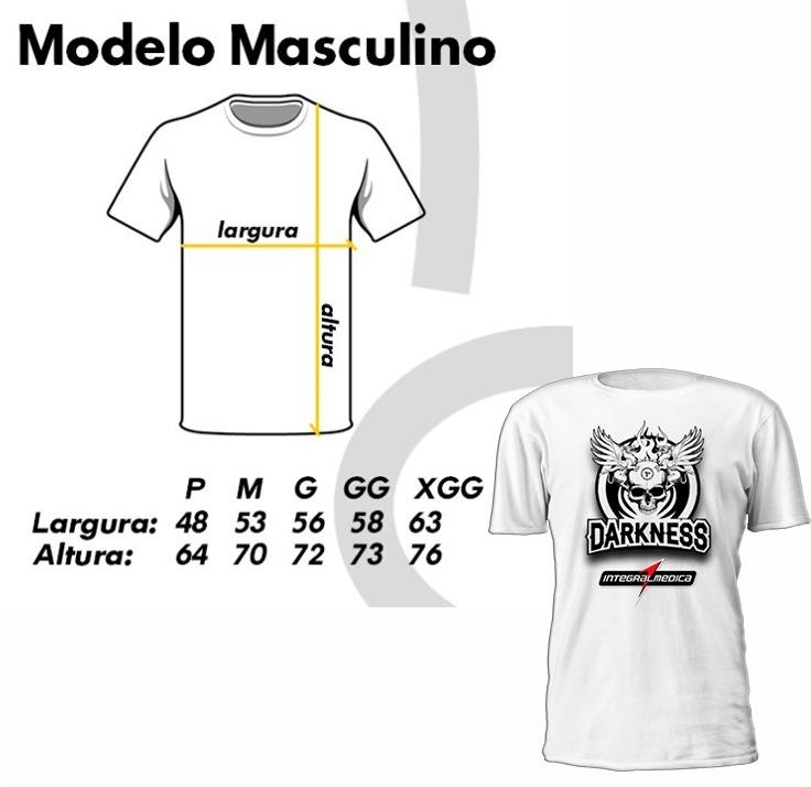 f285eea633c9c Camisa Masculina Feminina P M G - Academia Integral Darkness - R  32 ...