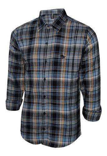 camisa masculina flanelada manga longa