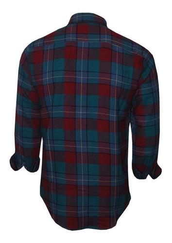 camisa masculina flanelada original polo rg518