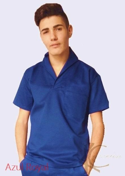e5135083c4be9 Camisa Masculina Gola Italiana Azul Brim Profissional - R  53