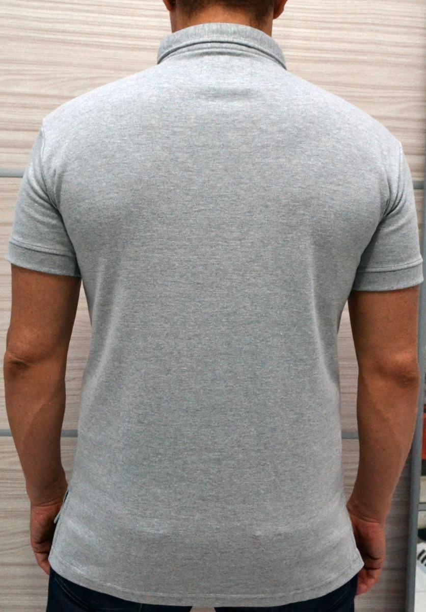 camisa masculina gola polo cinza pronta entrega-órion moda. Carregando zoom. cfc80d4a4ec18