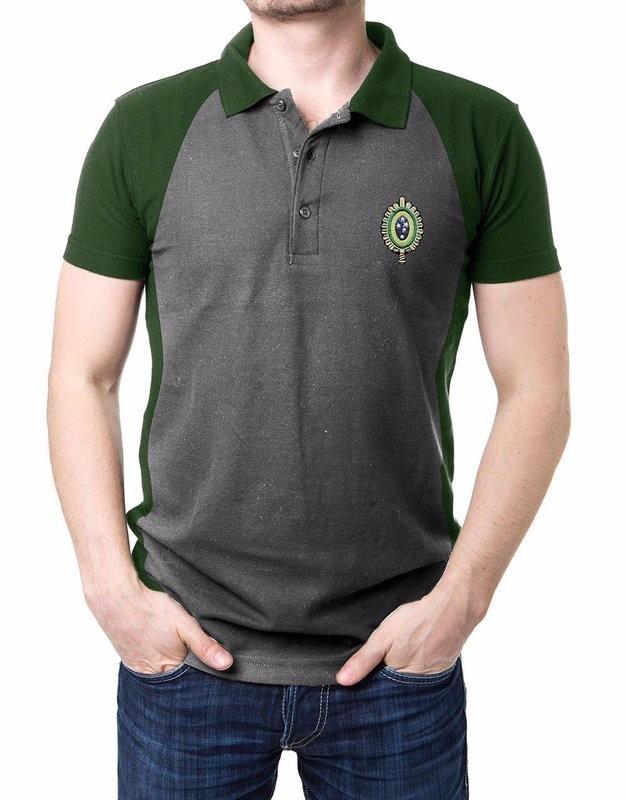 camisa masculina gola polo exército brasileiro cinza e verde. Carregando  zoom. 15fee7959a52d
