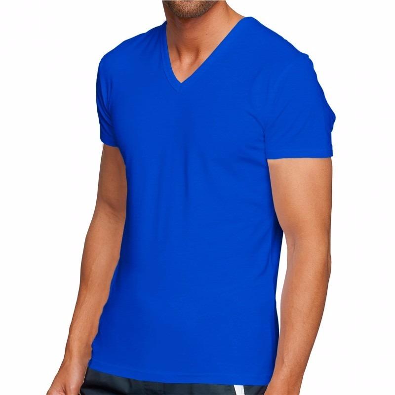 43ac9e53f camisa masculina gola v blusa camiseta slim fit qualidade. Carregando zoom.