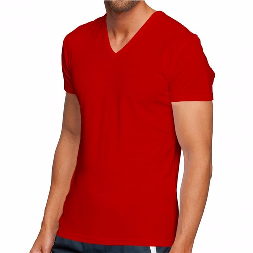 camisa masculina gola v blusa camiseta slim fit qualidade