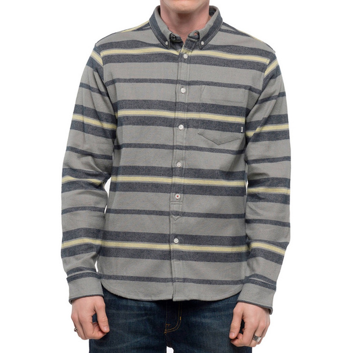 152c28d41 camisa masculina listrada skate element pollock cinza. Carregando zoom.