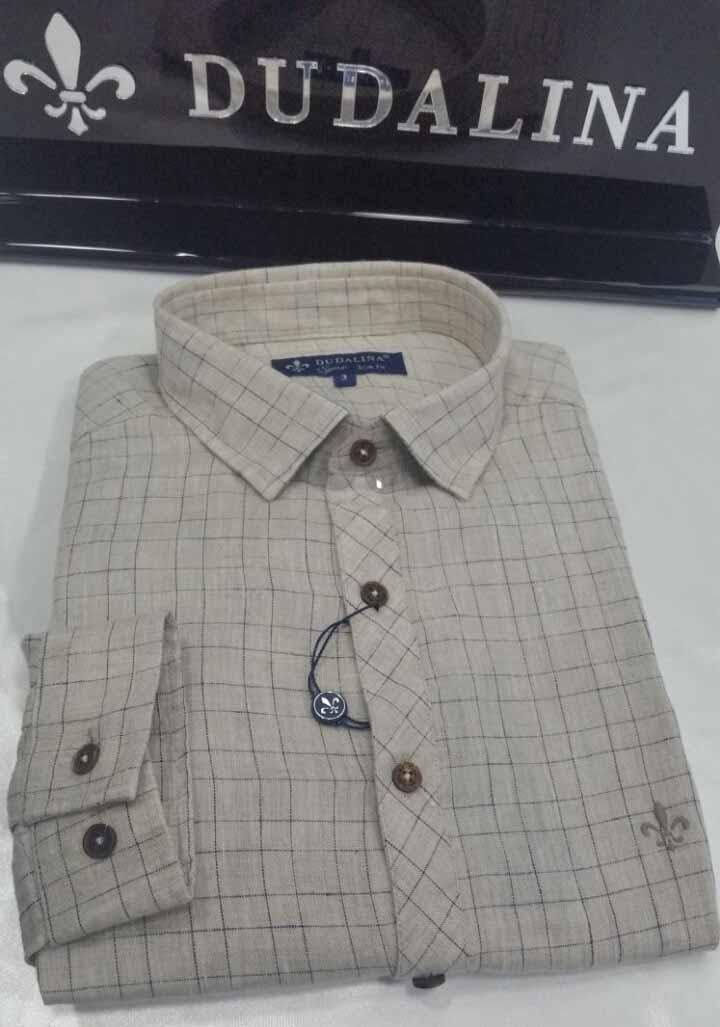 camisa masculina manga longa dudalina sport xadrez linho. Carregando zoom. a6385f8aaa4d9