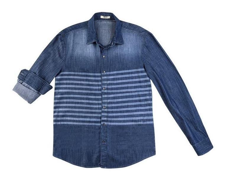c0d1a4dd07772 Camisa Masculina Manga Longa Jeans Listrada - Hering - R$ 129,90 em ...
