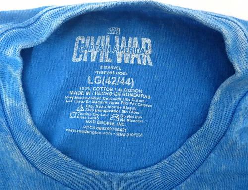 camisa masculina marvel guerra civil g original