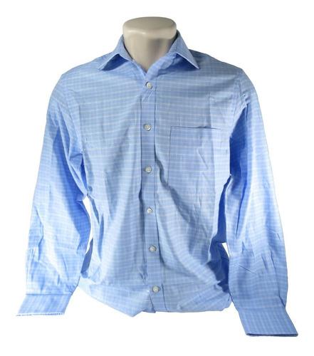 camisa masculina michael kors original importada azul xadrez
