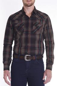 521e004f77 Camisa Masculina M l Regular Wester Verde Xadrez Tassa