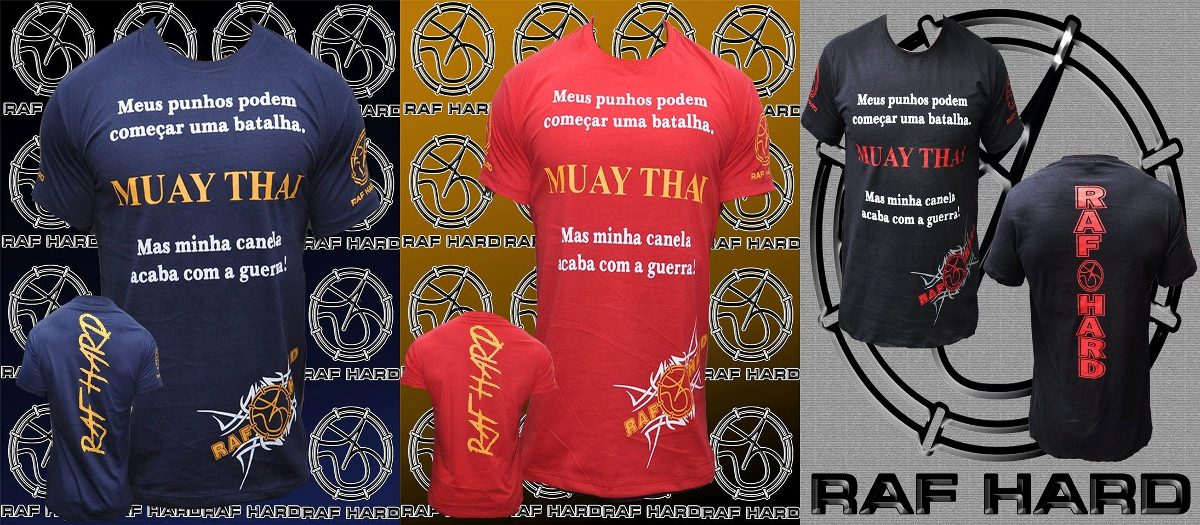 Camisa Masculina Muay Thai Frase Frete Grátis R 5999 Em
