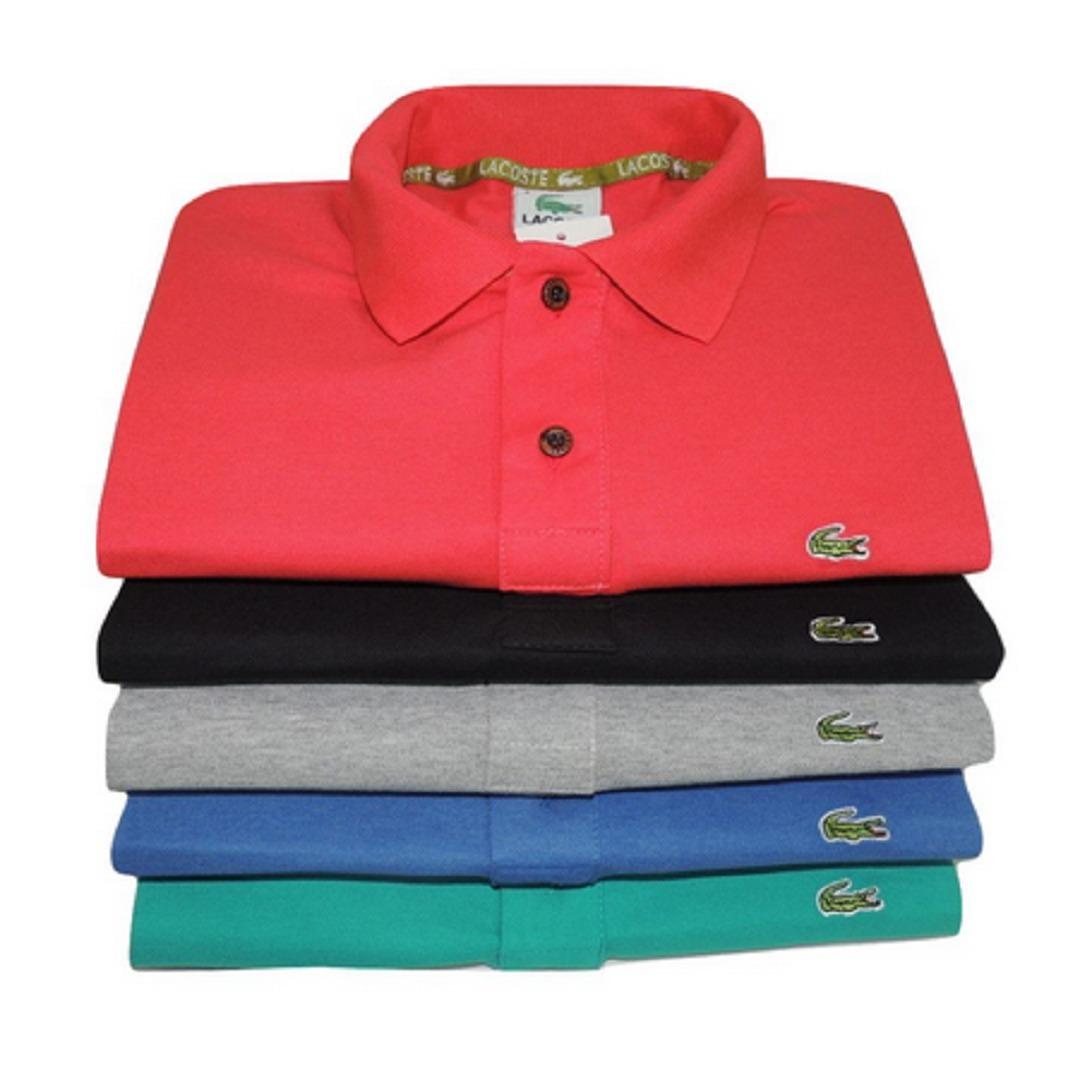 camisa masculina polo kit 5 unidades cores variadas atacado. Carregando zoom . ee13f9a916560