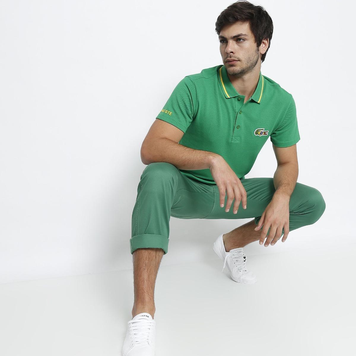 dad6f614b07 camisa masculina polo lacoste sport bandeira do brasil. Carregando zoom.