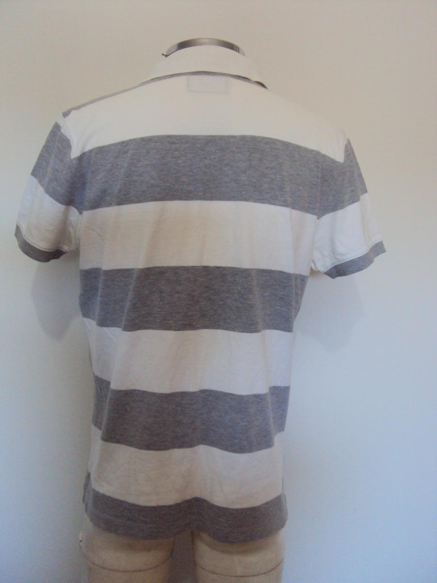 5378229bc4470 camisa masculina polo listrada cinza e branca marfinno tam m. Carregando  zoom.