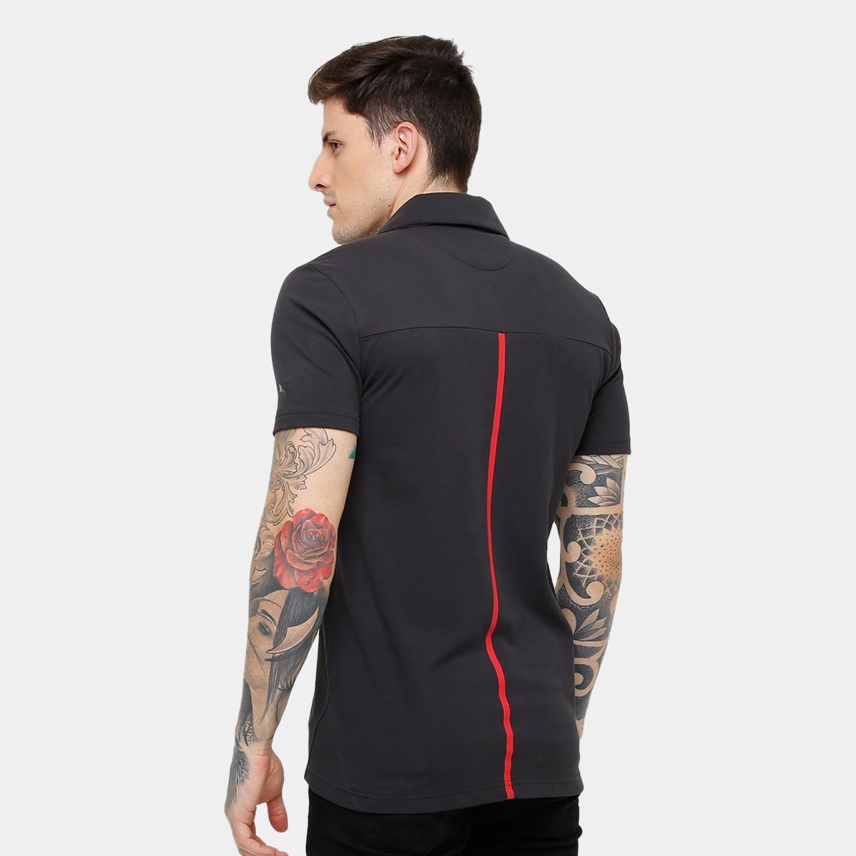 camisa masculina polo puma scuderia ferrari preta. Carregando zoom. 0158899d91c