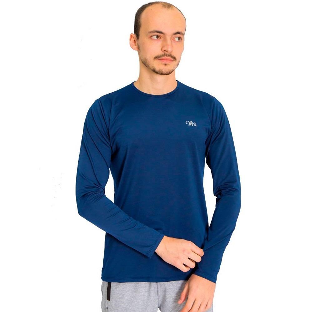 camisa masculina proteção solar uv fpu 50+ azul marinho. Carregando zoom. a10df274bec8c