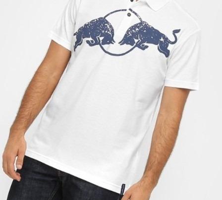 Camisa Masculina Red Bull Racing Stock Polo Branco Asphalt - R  129 ... f313e86a22f