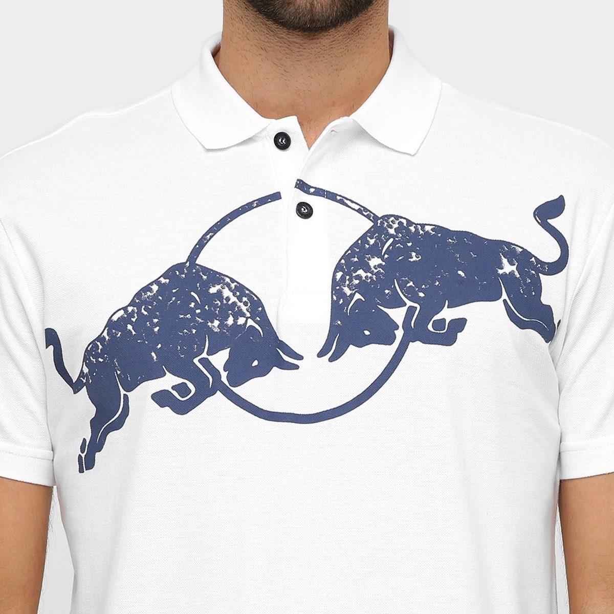 camisa masculina red bull racing stock polo branco asphalt. Carregando zoom. 5a928d9657a
