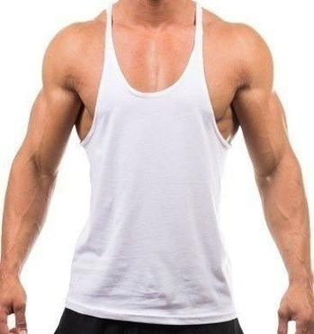camisa masculina regata cavada academia corrida tecido leve