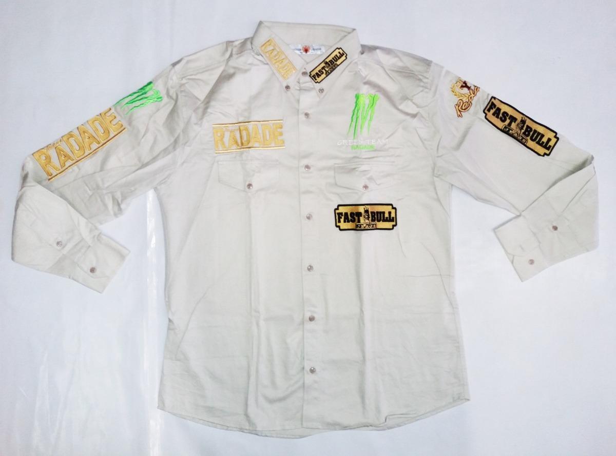camisa masculina rodeio radade bege ml green country bordada. Carregando  zoom. abf7cb1055d