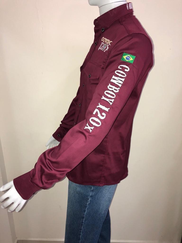 camisa masculina rodeio shop cowboy 120x vinho. Carregando zoom. 7ed267631d5