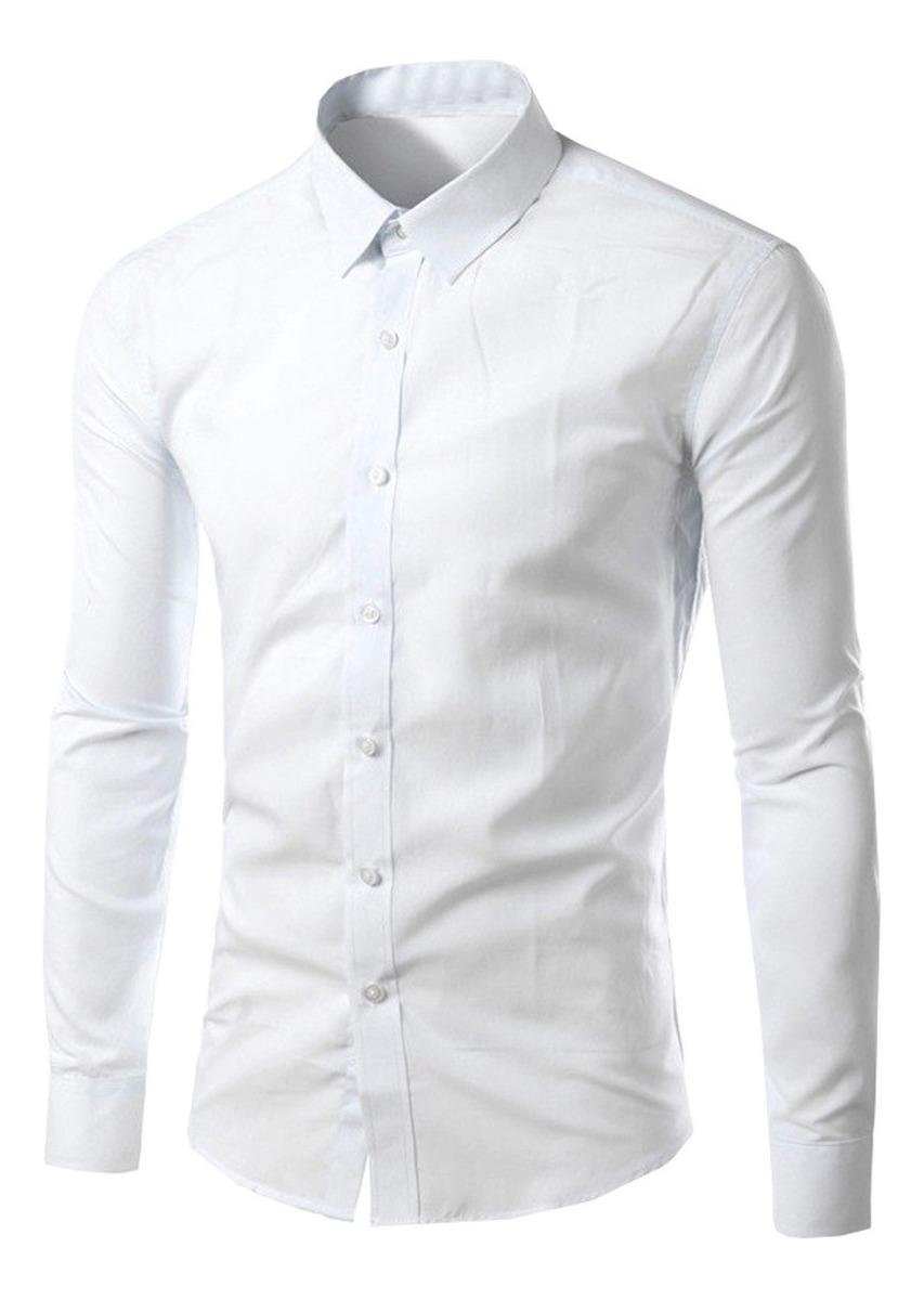 db266eb2824af0 camisa masculina slim fit branca luxo reveillon blusa festa. Carregando  zoom.
