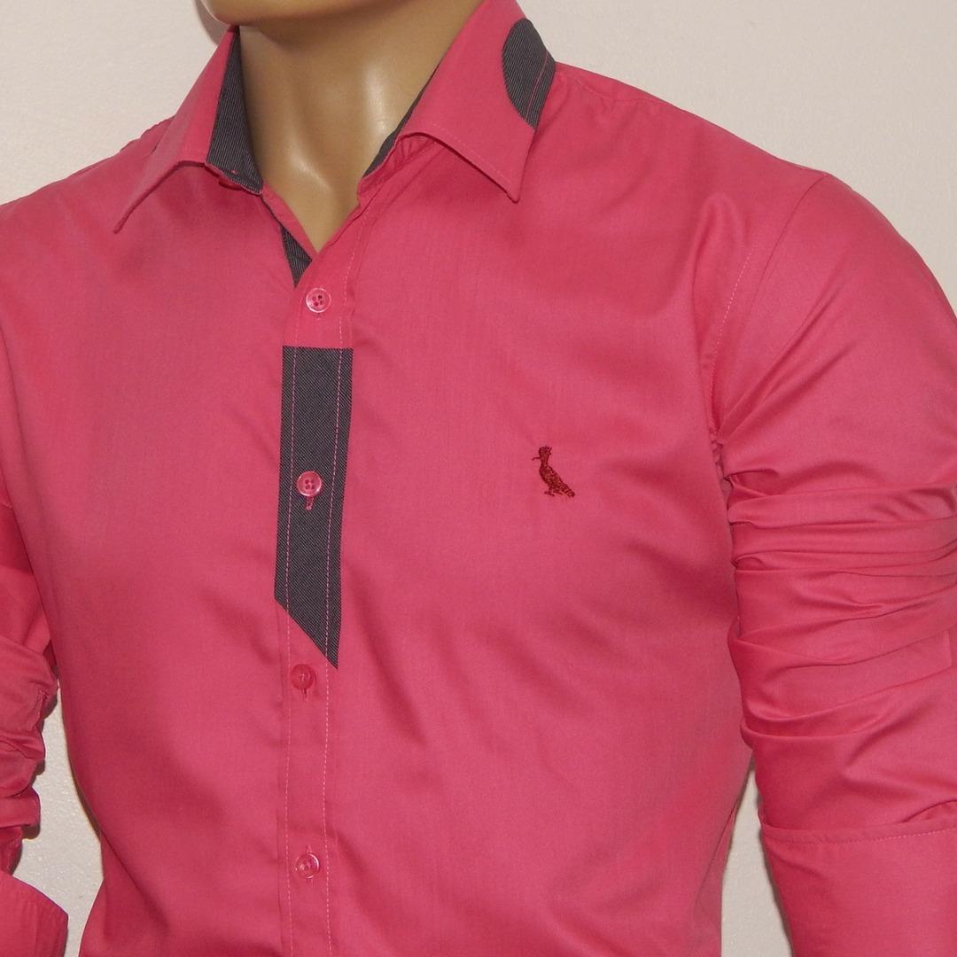 888fc0e014 Camisa Masculina Slim Fit Camisa Social Masculina Liquidação - R ...