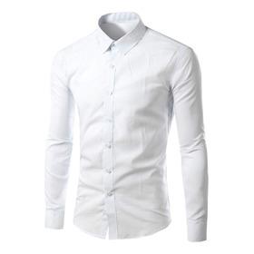 Camisa Masculina Slim Fit Luxo Reveillon Festa Casamento Top