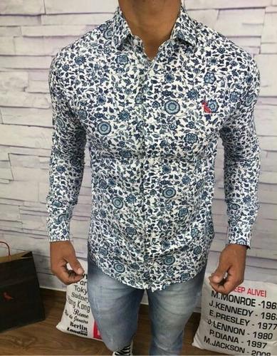 camisa masculina slim fit ralph lauren   hugo boss   armani