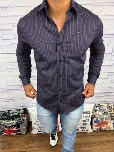 camisa masculina slim fit ralph lauren | hugo boss | armani
