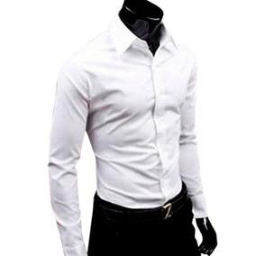 5cb6b8da8e Camisa Slim Fit - Camisa Social Manga Longa Masculino Verde escuro no  Mercado Livre Brasil