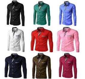 bbef385802 Camisa Social Slim Fit Baratas - Calçados, Roupas e Bolsas com o Melhores  Preços no Mercado Livre Brasil