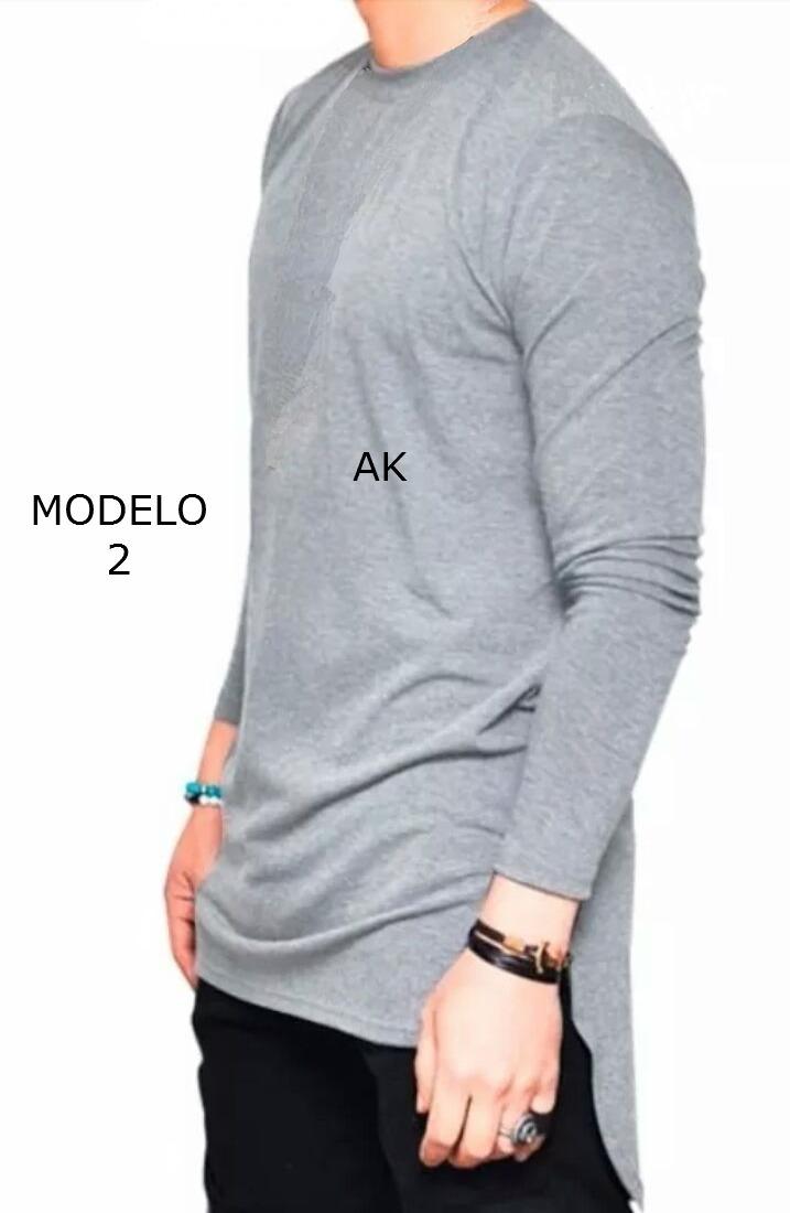 265c65a47 Camisa masculina swag oversized longline manga comprida carregando zoom jpg  717x1100 Camisetas masculina comprida atras