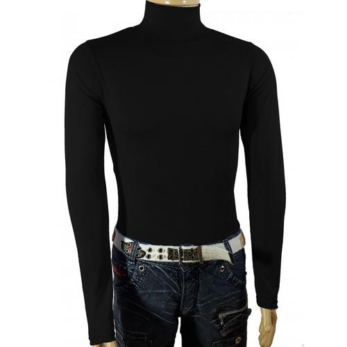 camisa masculina térmica gola alta manga longa uv 50 sjons