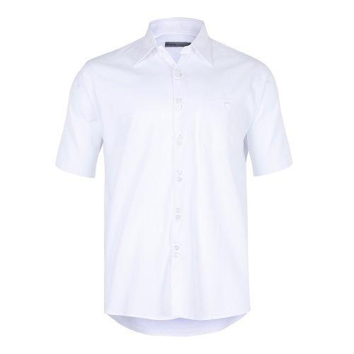 camisa masculina tradicional algodão fio 50 f00402a branco