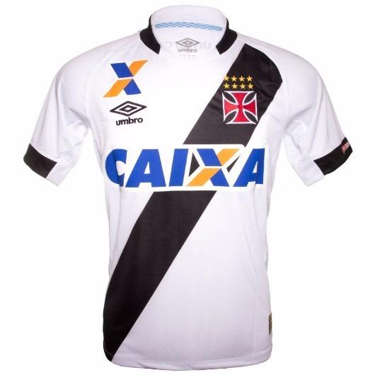 d0ea1d5c142a0 Camisa Masculina Umbro Vasco Oficial Ii 2015 Nº 10 Branca - R  138 ...